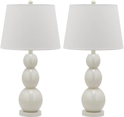 safavieh lit4089a set2 jayne three sphere glass lamp set of 2 14 0