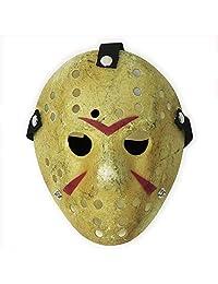 Costume Prop Horror Hockey Mask Halloween Myers (Adult (One Size), Yellow)