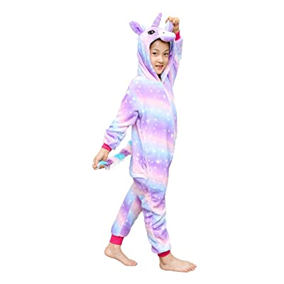 Kids Unisex Unicorn Costume Animal Onesie Pajamas Halloween Christmas Costume Gifts: Clothing