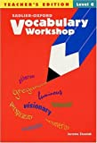 Vocabulary Workshop, Level G, Jerome Shostak, 0821576224