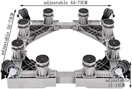 HEMFV 洗濯機ベース全自動ユニバーサル高めるキャスター移動ブラケット固定防振フットスタンド