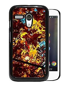 Unique DIY Designed Cover Case For Motorola Moto G With Golden Leaves Nature Mobile Wallpaper Phone Case