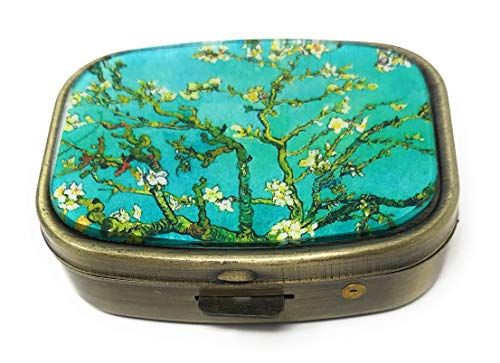 Van Internal (Value Arts Vincent Van Gogh Almond Blossoms Pill Box, Brass and Glass, 2.25 Inches Long)