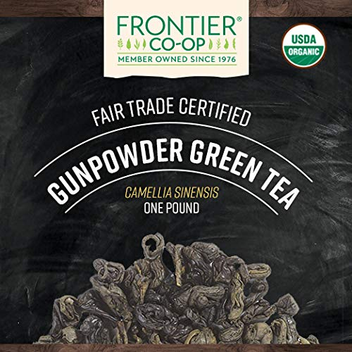 Frontier Co-op Gunpowder Green Tea, Certified Organic, Fair Trade Certified, Kosher, Non-irradiated | 1 lb. Bulk Bag | Sustainably Grown | Camellia sinensis L.