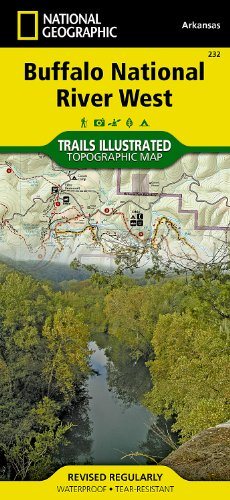 Buffalo National River West : Arkansas, USA : hiking & horse trails, trail & river mileages, Upper Buffalo & Ponca Wilderness, Buffalo River hiking ... (National Geographic Trails Illustrated Map) (River Horse)