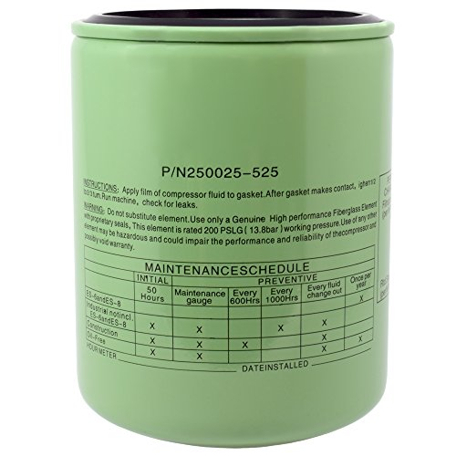 250025-525 Sullair Oil Filter Element Replacement