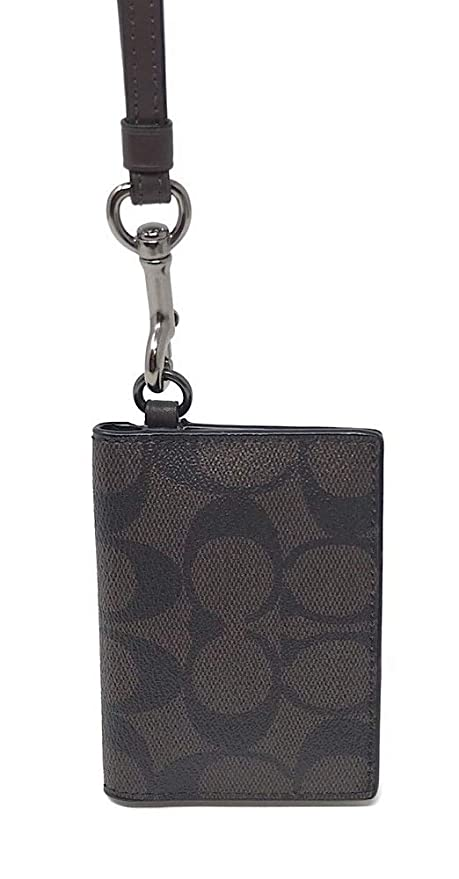 outlet store aa8a1 db3cb Amazon.com: Coach Mens F36139 ID Lanyard Card Case Singnature Coated ...