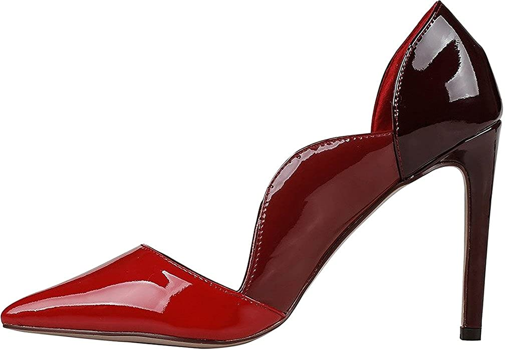 Calaier Damen Caperson 10CM Stiletto Schlüpfen Pumps Schuhe