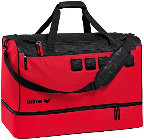 Erima »Graffic 5-C« Sporttasche mit Bodenfach rot/schwarz
