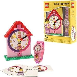 Lego Reloj, diseño Profesor de Tiempo, Color Rosa 9005039 1