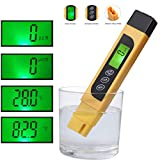 Water Quality Tester, TDS Meter, EC Meter & Temperature Meter 3 in 1, 0-9990ppm, Ideal Water Test Meter Drinking Water, Aquariums, etc.