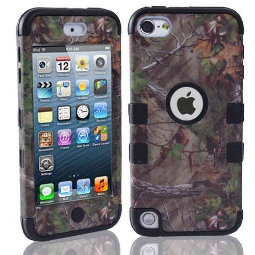 iPod Touch 6th Generation Case, iPod Touch 5th Generation Case,E-fashion Case 3-Pieces Tree Camo Design Hybrid Cover Case Cover for ipod Touch 5th/6th(black)