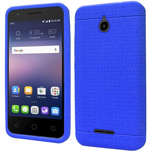 Phone Case For AT&T Gophone Alcatel Ideal 4G LTE Matte Cover Case + Screen Protector (Blue) (Phone Case At&t)