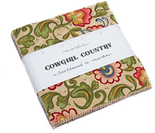 Country Quilt Fabric - Cowgirl Country Charm Pack by Sara Khammash; 42-5