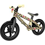 Chillafish BMXie-RS: BMX Balance Bike with Airless RubberSkin Tires, Army of Love Edition, Camo (Sergeant Hearts)