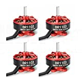 4pcs RacerStar BR1103 1-2S 10000kV Brushless Motor Racing Edition Set (Red)