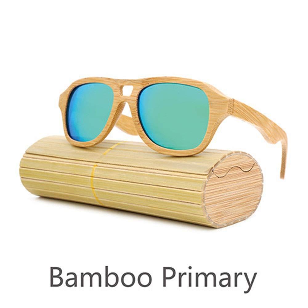 Rongjuyi Unisex Handmade Bamboo UV400 Nuevas Gafas de Bambú ...