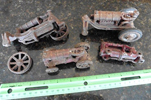 Lot of Vintage Tractor Parts Cast iron Farm ford tractor antique toys Hubley ++ - Vintage Cast Iron Toy