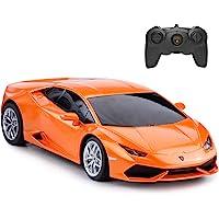 RASTAR Remote Control Car | 1:24 RC Lamborghini HURACÁN LP610-4 Toy Car Model Vehicle, Orange