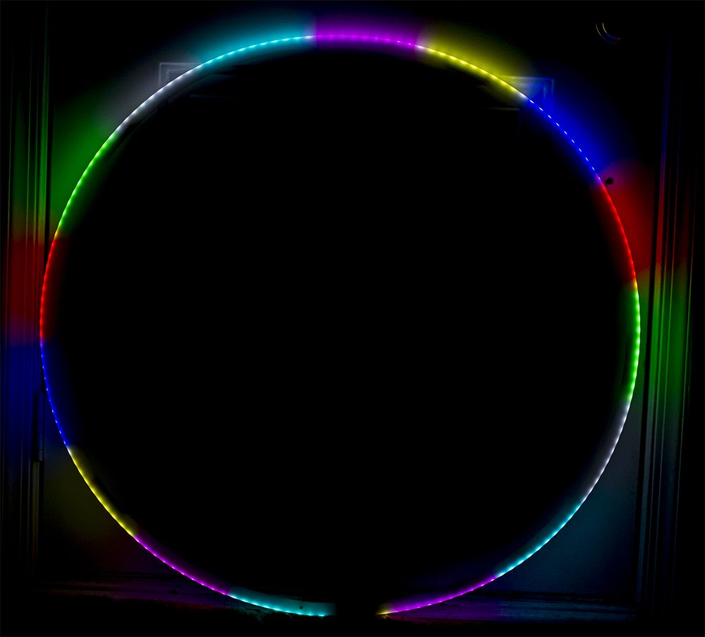 LED Hula Hoop - 160 LEDs 90cm 300 Different Patterns - Speed Adjustment - Wireless Remote - Perfect for Festivals and Rave by Rave Raptor (Image #4)