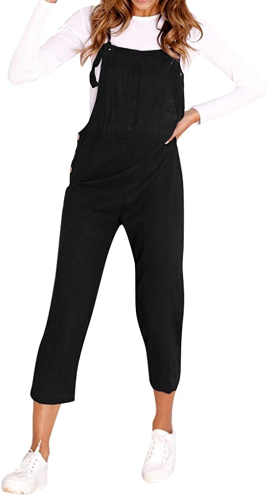 Logobeing Jumpsuit de Mujer Chicas Peto Largos Casual Elegantes ...