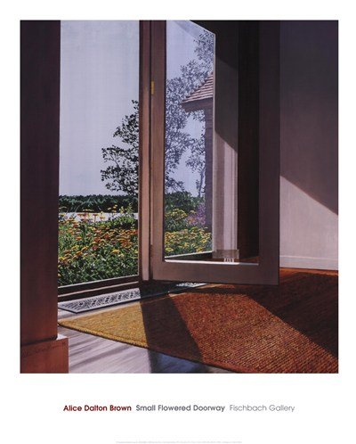 Small Flowered Doorway, 1996 by Alice Dalton Brown - 24x30 Inches - Art Print Poster (Alice Art Dalton Brown)