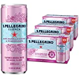 S.Pellegrino Essenza Dark Morello Cherry & Pomegranate Flavored Mineral Water, 11.2 fl oz. Cans (Pack of 24)
