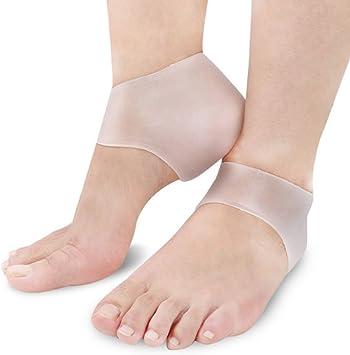 山の奥 かかとケア かかと保護カバー 足底筋膜炎インソール 足痛み軽減 かかと痛サポーター 衝撃吸収 ジェルサポーター かかとケア 美足 保湿 かかと靴下 男女兼用 2枚入り