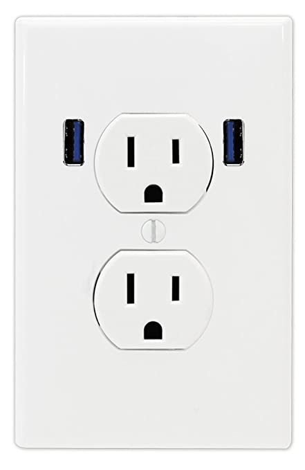 U-Socket ACE-8158 15-Amp AC Standard Wall Duplex Outlet with Built ...