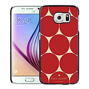 Luxurious And Popular Custom Designed Kate Spade Cover Case For Samsung Galaxy S6 Black Phone Case 223