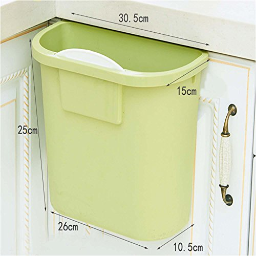 OOFYHOME Home Wall-Mounted Trash cans, with no Cover Thick Plastic Cabinet Large Storage Barrels, The Kitchen can be Linked to Trash, C