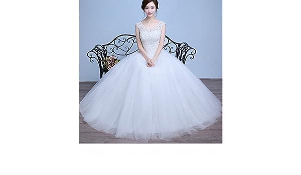 QP Vestidos de Novia Modernos de Hombro Qi Di Diadema de Plástico de Encaje de Boda de la Novia Belleza Vestidos de Novia,UN,METRO: Amazon.es: Hogar