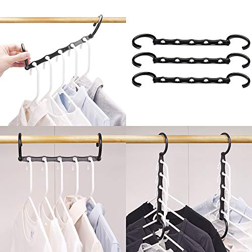 TOP RATED PACK OF 10 SPACE SAVING MAGIC HANGERS