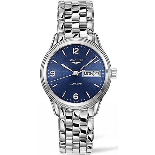 Longines Analog Wrist Watch - Longines Men's Steel Bracelet & Case Automatic Blue Dial Analog Watch L47994966