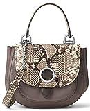 MICHAEL Michael Kors Womens Isadore Leather Saddle Handbag Gray Medium