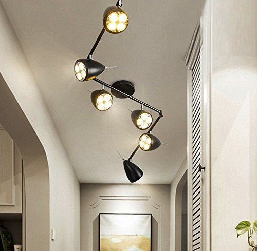 6 light close to ceiling adjustable flush