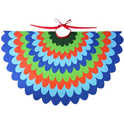 STARKMA Bird Fairy Peacock Wings Costume for Kids (E) Royal Blue ()