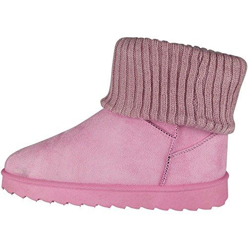 Größe Pelz Faux Knöchel Stiefel Damen Rosa 36 Socke Niedrig Warm Hacke Winter 41 41yazx