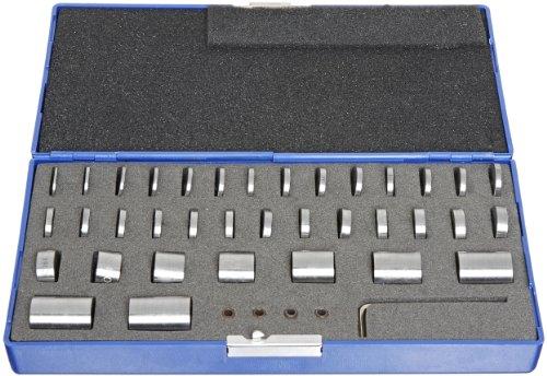 Fowler 53-680-000 Space Gage Block Set, 36 Piece