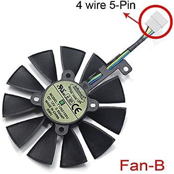inRobert 87mm T129215SU Graphics Card Cooling Fan for ASUS ROG Strix GTX1060/GTX1080/GTX1080TI/GTX1070 Video Card Cooler (Fan-B)