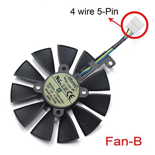 inRobert 87mm T129215SU Graphics Card Cooling Fan For ASUS ROG STRIX GTX1060/GTX1080/GTX1080TI/GTX1070 Video Card Cooler (Fan-B) by inRobert