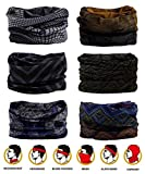Headwear - 6PCS Scarf Bandanna Headband Yoga Sports Headband,Head Wrap,Balaclava Multifunctional Stretchable Sport Face Mask