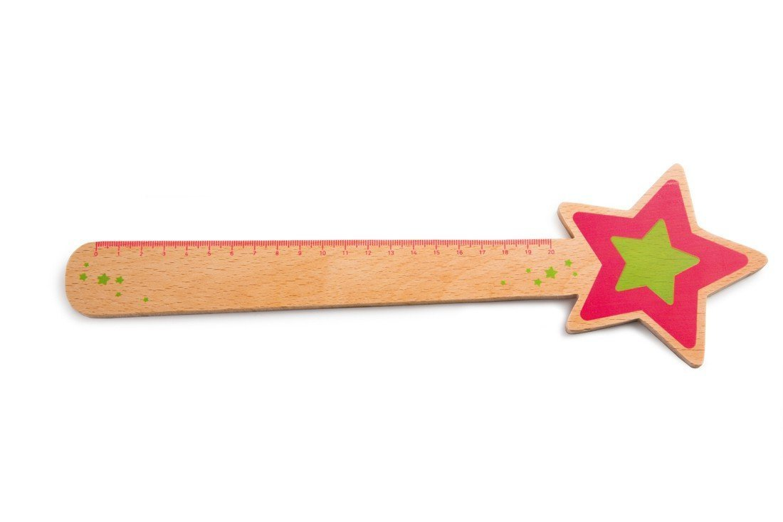 Fun & Unique wooden funky ruler for kids featuring Cinderella Wand