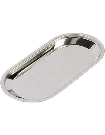 bestonzon bandeja acero inoxidable para Dental Médica plana Lab Snack Towel instrumento (plata)
