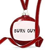Christmas Decoration Burn Out Coal Grill Fire Place Ornament