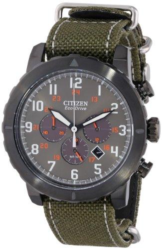 Citizen CA4098 14H Military Green Watch