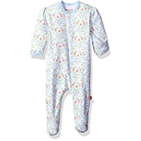 Magnificent Baby Baby Girls' Magnetic Footie, Bluebell Floral, NB