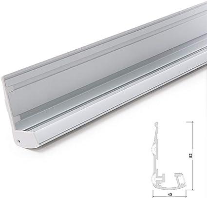 Greenice | Perfíl Iluminación Escaleras - Gomas Antideslizantes - Difusor Opal - Tira 1 M: Amazon.es: Iluminación