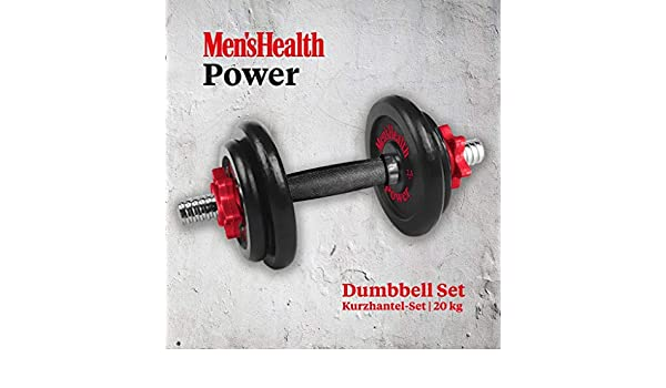 Helath Power - Juego de Mancuernas para Hombre (18 kg): Amazon.es ...
