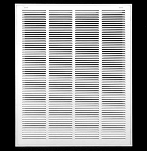 """20"""" X 30 Steel Return Air Filter Grille for 1"""" Filter - Removable Face/Door - HVAC Duct Cover - Flat Stamped Face - White [Outer Dimensions: 22.5 X 31.75]"""